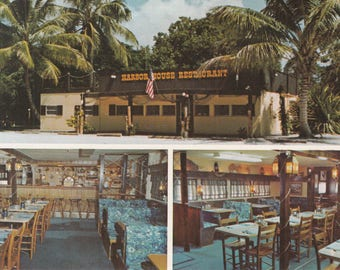 Sanibel Island, Florida Vintage Postcard - Harbor House Restaurant, Multi-view Postcard, Il Cielo