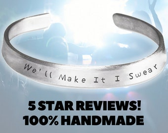 We'll Make It I Swear Bon Jovi Jewelry Handmade Aluminum Bracelet Jon Bon Jovi - Bon Jovi Jewelry - Living on a Prayer