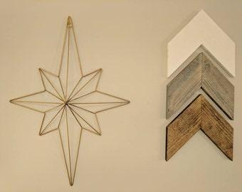 Chevron Arrows (Custom Set of 3), Home Decor, Rustic Home Decor, Nursery, Nursery Wall Art, Nursery Decor, Nursery Art