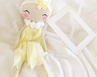 Handmade doll / rag doll / cute face / fairy