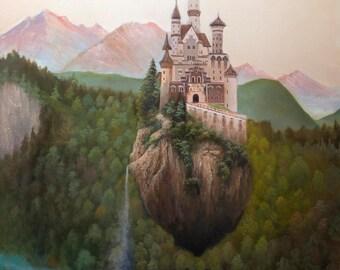 Laputa:Castle in the Sky, oil painting