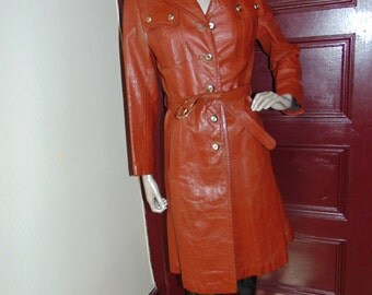 Vintage Leather Coat by Marco Polo