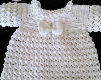 complete dress crochet christening
