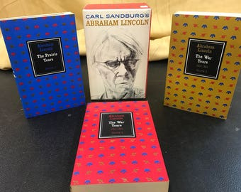 Abraham Lincoln The Prarie Years and The War Years By Carl Sandburg!!