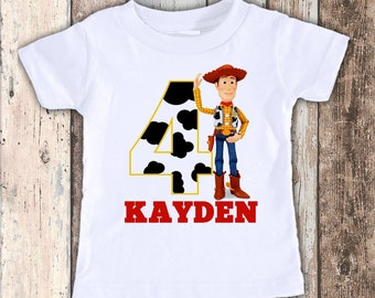 Woody Toy Story designed birthday t shirt tshirt personalized