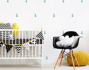 Vinyl child - ananas Little - Mini decorative vinyl removable pinecones