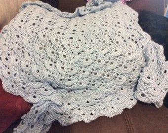 Baby blue baby blanket