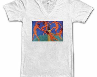 Ladies The Dance With Beer Tee, Women's Tee, Beer Tee, Beer T-Shirt, Beer Lover, Art Lover, Beer Thinkers, Matisse, Beer Art, Altered Art
