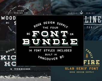 Font Bundle - Huge Savings - 14 Font Styles