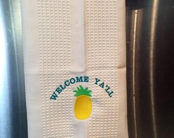 Welcome Ya'll Handtowel, Southern Hand Towel