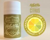 "Lemon + Grapefruit + Lime + Tangerine > ""Citrus"" Aluminum-Free Natural Deodorant by SodaWax"