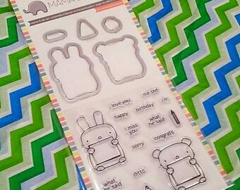 "Mama Elephant Cut and Stamp Set by Hampton Art - ""Little Mouse"" Set"