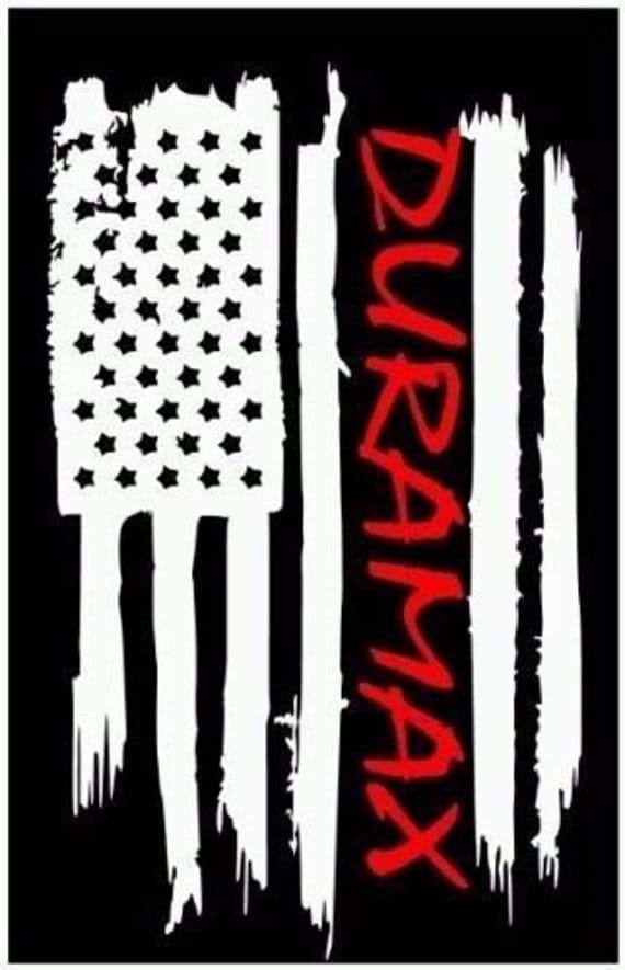 American Flag Duramax Chevy Chevrolet Vinyl Sticker Decal Thin