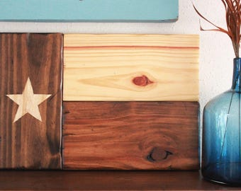Wooden Texas State Flag//Rustic Home Decor//Handmade Wooden Flag//Vintage Style Decor