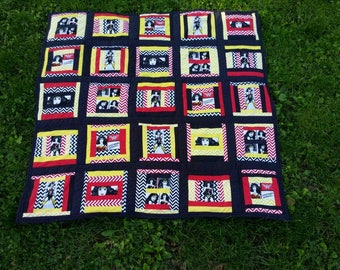 Wonder Woman quilt throw blanket
