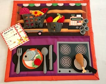 Game to cook - the small Chef - educational rug to learn the routine of feeding