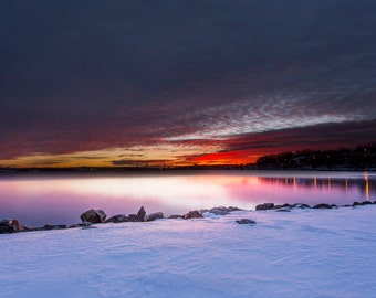 Halifax, N.S / Sunrise / winter fine art / photography / print