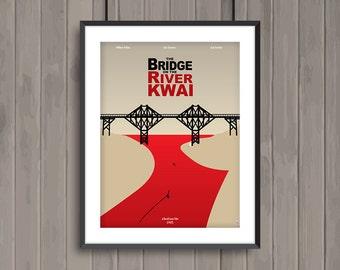 The BRIDGE on the RIVER KWAI, minimalist movie poster