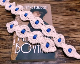 Crochet Blue Beads Jewelry Set Pattern