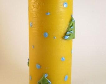 handmade beeswax candle pillar