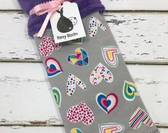 Girls Lovey blanket Security blanket Baby girl blanket Baby shower gift Girls shower gift Heart baby blanket knit blanket heart lovey blanky