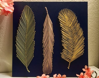 3 Feathers String Art