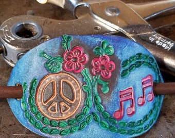 Handcrafted Leather Barrette