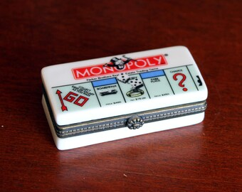 Monopoly Porcelain Trinket Box Midwest Cannon Falls