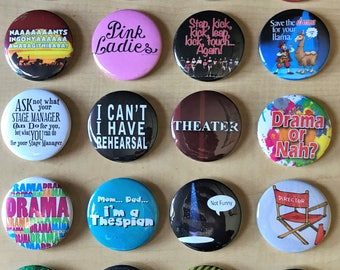Theatre Pinback Buttons