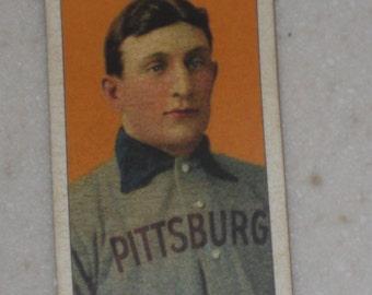 1909/10 T206 Honus Wagner Lenox Mouthpiece Cigarettes Back