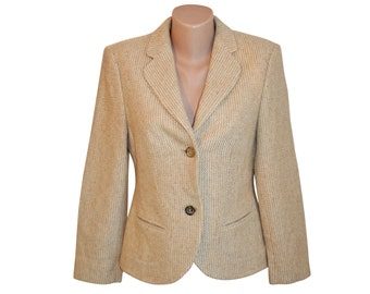 Vintage ANTONETTE women blazer jacket 100% lambswool