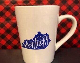 Kentucky State Coffee Cup, Any State, Coffee Lover Gift, Coffee Mug