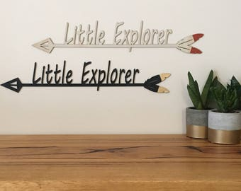 Little explorer, arrow, woodland, wall hanging.
