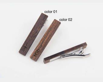 Wooden tie clip,tie clip vintage,tie bar vintage,skinny tie clip,tie clip man,anniversary gift,tie clips men,wood tie clip,custom tie bar