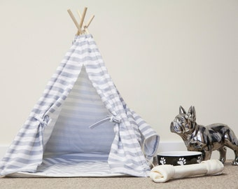 Tepee Tent Dog Bed with mat and carry bag