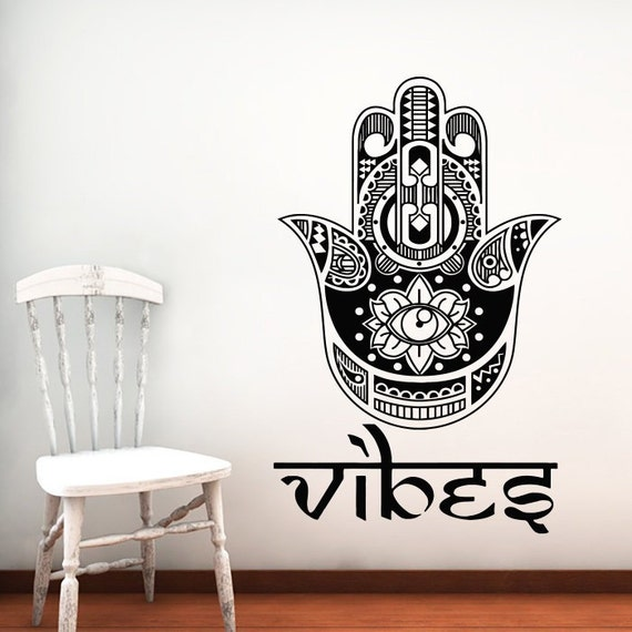 Vinyl Wall Decal - Tribal Pattern Mandala Flower Silhouette Wall Decals Home Livingroom Religious Art Decor Vinyl Wall Stickers Mural