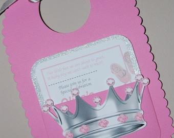 Baby Girl Bib Shower Invitation
