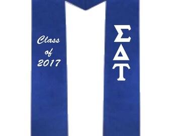 Sigma Delta Tau Graduation Stole Class of 2017
