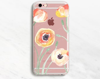 Flowers Clear iPhone 6 Case iPhone 7 Case iPhone 6 Plus Case Clear iPhone 6 Case iPhone 7 Plus Case Clear iPhone 5s Case Clear iPhone SE