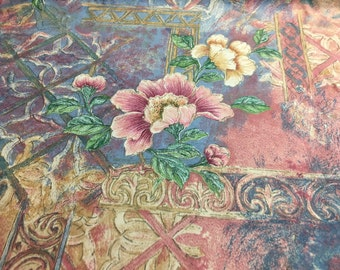 Vintage English Garden design fabric made in the UK