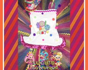Candyland set Tutu shirt and Top hat