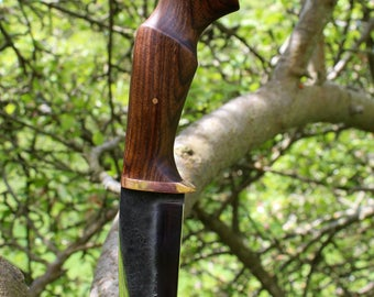 "Hand forged 5"" camp knife/hunting knife/bushcraft knife."