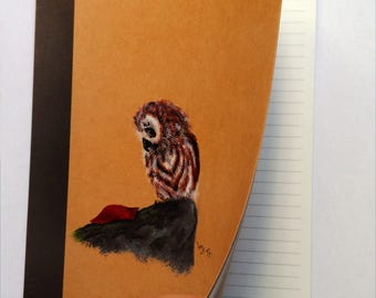Custom notebook. Hand painted. A5 size. Lifestyle. Elegant