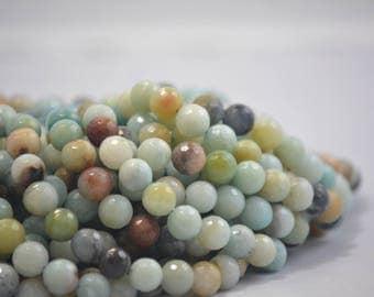 10 mm faceted amazonite gemstone