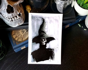 Witch Inktober Print - 4x6