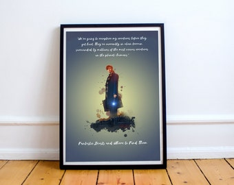 Art print Fantastic Beasts and Where to Find them A4 Poster- Newt Scamander
