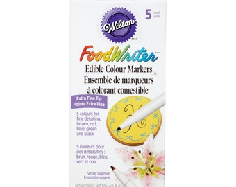 Wilton Foodwriter Edible Color Markers, 5 Pack
