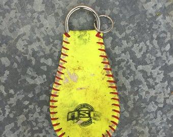 Softball bag tag/ key chain - Plain