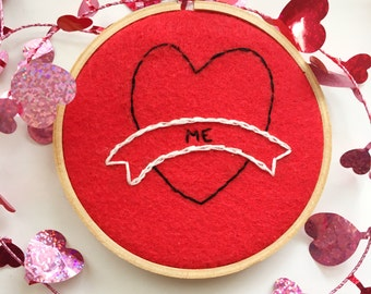 READY TO SHIP~Self Care Embroidery Hoop,  love yourself, wall art, embroidery design, hand embroidered, treat yourself, hoop art