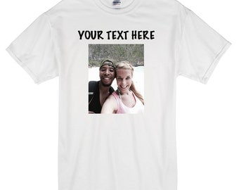 Couples Photo Tee. Personalized girlfriend gift. Personalized shirt. Couples shirts. Picture tshirt. Picture Shirts. Photo shirt. tshirt